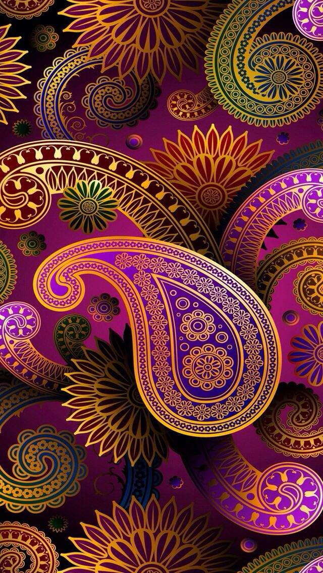 Paisley -- nice designs that could be adapted to felt/wool embroidery.
