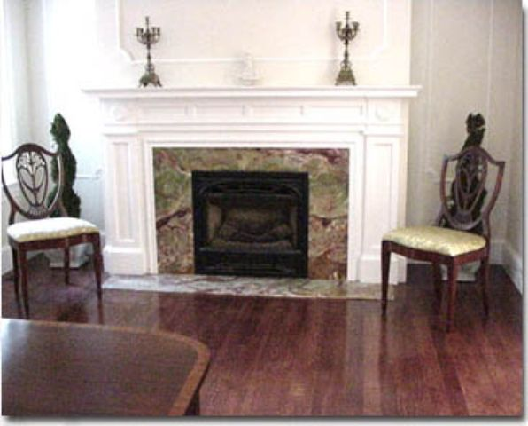how to clean white granite fireplace