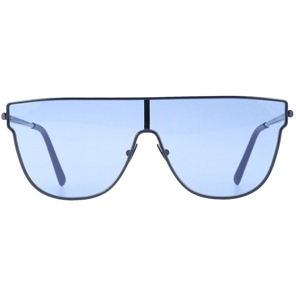 Tinted Aviator Sunglasses ($220) ❤ liked on Polyvore featuring accessories, eyewear, sunglasses, blue, blue glasses, metal glasses, metal sunglasses, blue aviator sunglasses and retrosuperfuture