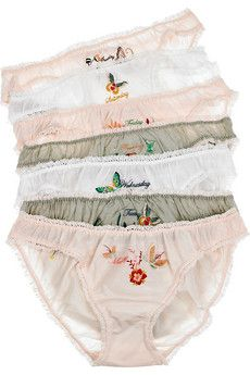 dang. cute days of the week underpants from stella mccartney (in pounds) $150