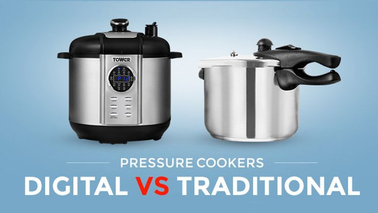 Digital vs.Traditional Pressure Cookers: What's The Difference: For many of us wanting to get in on the pressure cooking action, making the right choice between traditional, stove-top pressure cookers and digital pressure cookers is difficult. If you're a tad confused as to the difference between the two types then read on as we've complied this handy guide outlining the pros and cons of each.