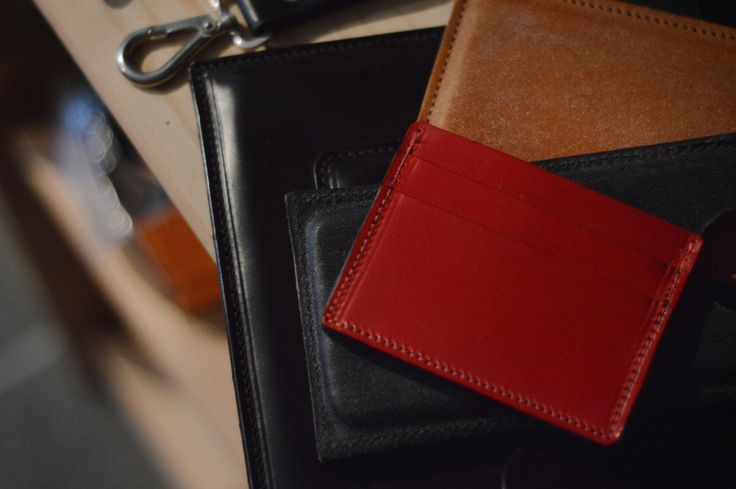 McCredit card holder - handmade leather wallet, available in different colours