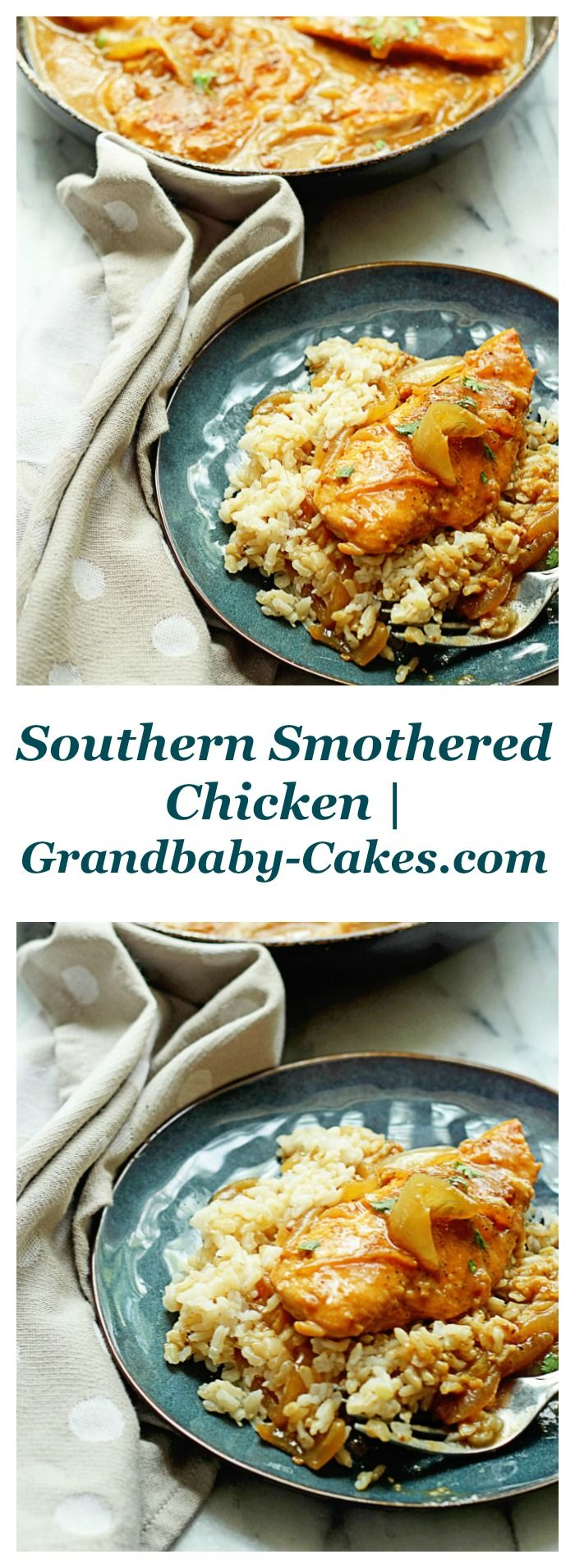 Southern Smothered Chicken | Grandbaby-Cakes.com