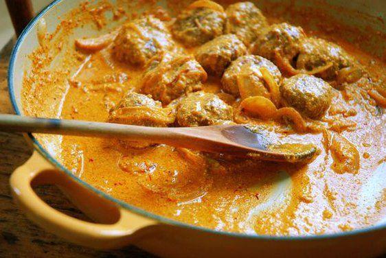 Lamb Meatballs With A Broken Yogurt Saffron Sauce - Recipe Included.