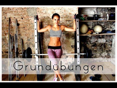 Grundübungen - Muskelaufbau / Krafttraining - Ausführung: Squats, Kreuzh...
