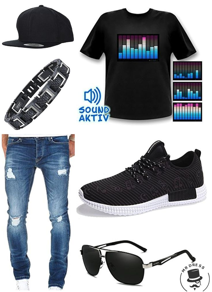 party outfit m nner 10 kanal equalizer led t shirt. Black Bedroom Furniture Sets. Home Design Ideas