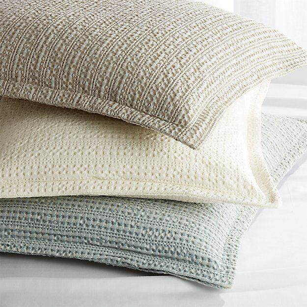 Tessa Cream Duvet Covers and Pillow Shams | Crate and Barrel