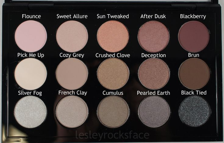 MAC Cool Neutral Palette - Product with Names