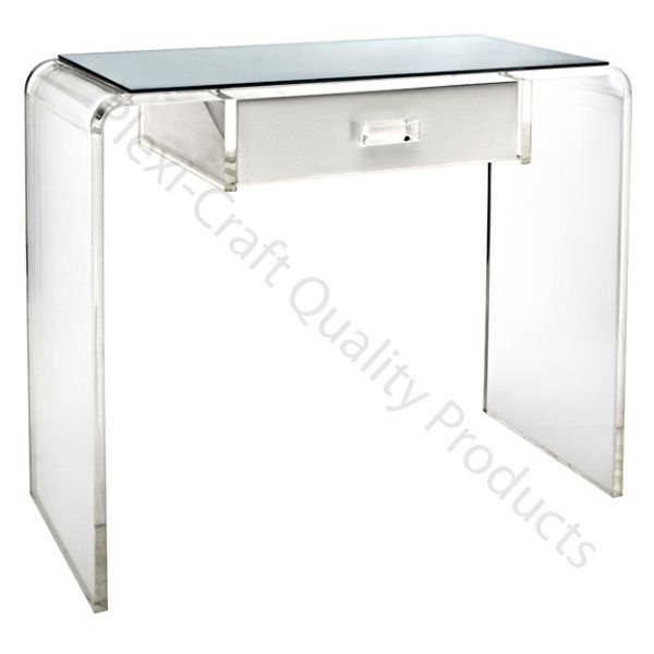 7 best our acrylic desks vanities images on pinterest for Perspex desk