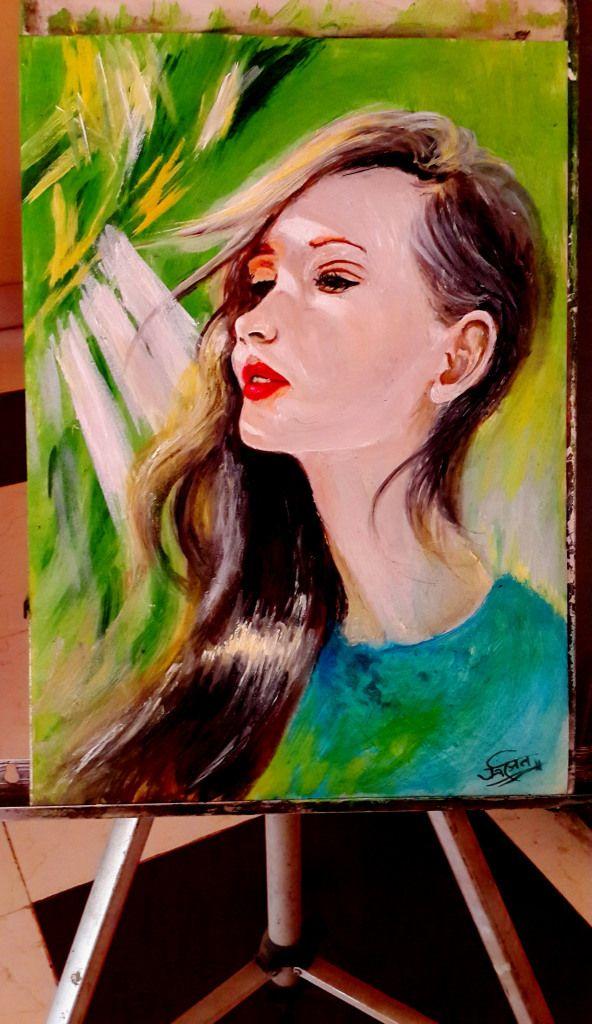 sunshine hide and seek_ oil painting in progress by rainNsunshine 3