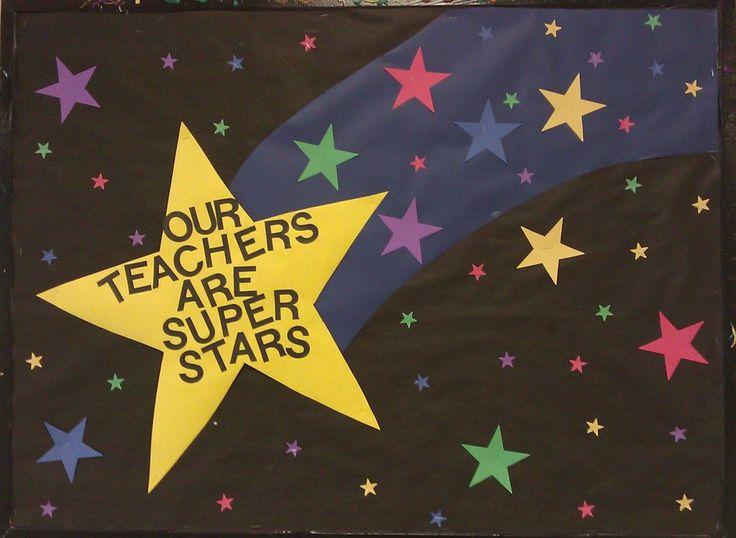 pto bulletin Boards   ... going differently in my mind...: Teacher appreciation bulletin board