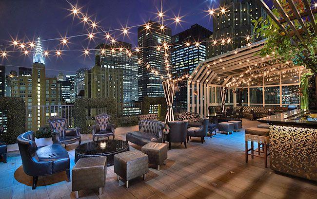Rooftop New York Restaurant Sur Le Toit Bar Sur Le Toit Bar