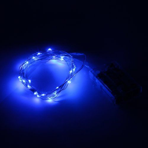 SINOLLC 3M 10ft BLue Micro LED Starry Fairy Light 30LEDs Bright Cute Lovely LED Copper Wire for Fest @ niftywarehouse.com #NiftyWarehouse #Halloween #Scary #Fun #Ideas