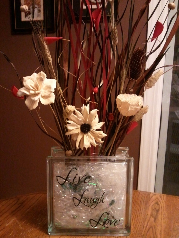 I made a few of these glass block vases with lights   for Christmas gifts. It was a fun and easy project.