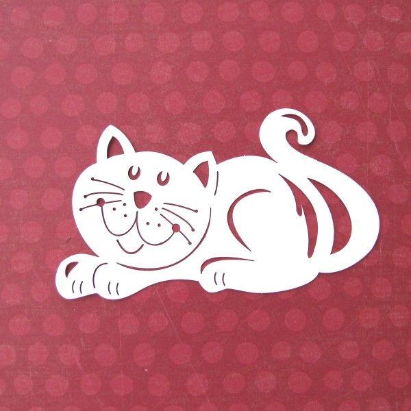 Kočka+velká+Výsek+z+jednobarevného+papíru.+Rozměry:+6,2+x+11,6+cm.+Barva:+bílá.+SB+papír:+280+g/m2. Acid+&+lignin+free.