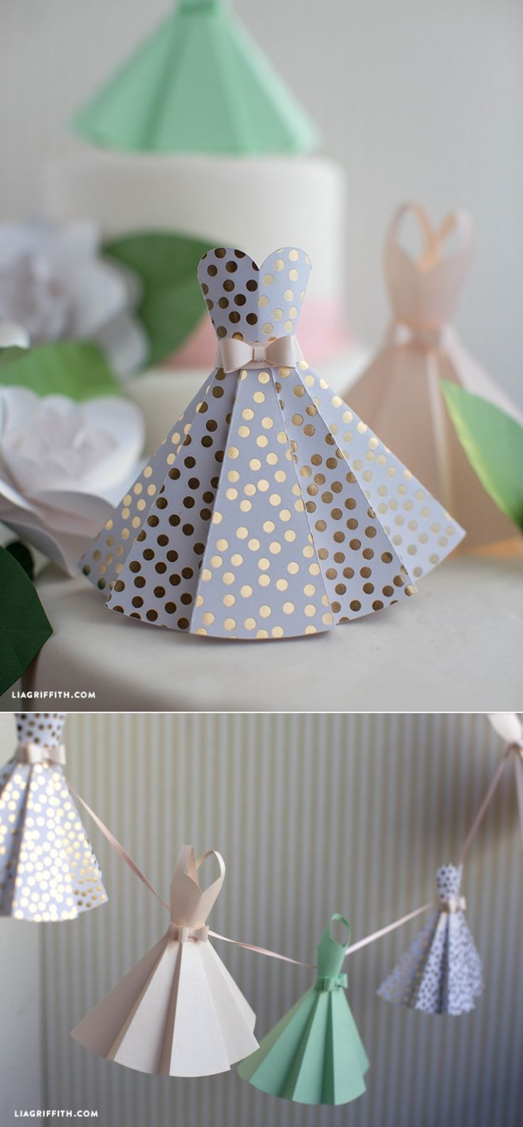 #diywedding #weddingdecor #paperdress www.LiaGriffith.com