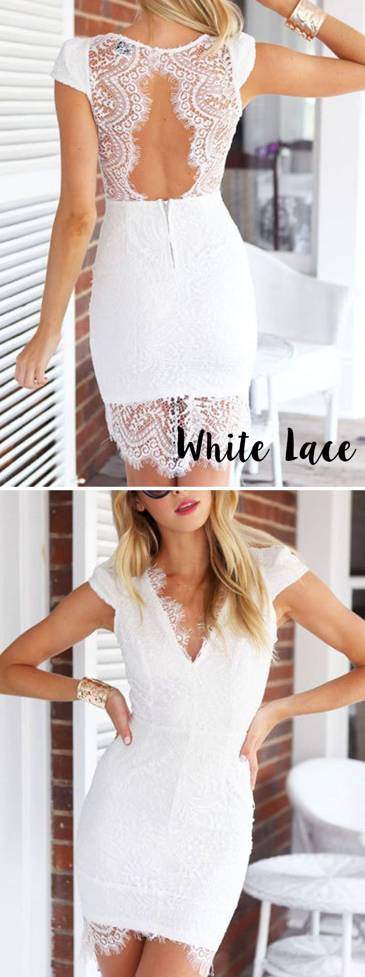 stunning in white lace! Little White Dress