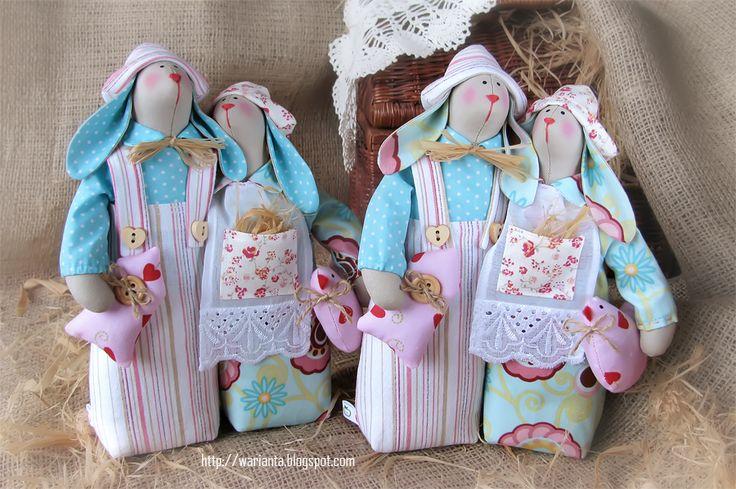 warianta. кукольная территория: зайчики