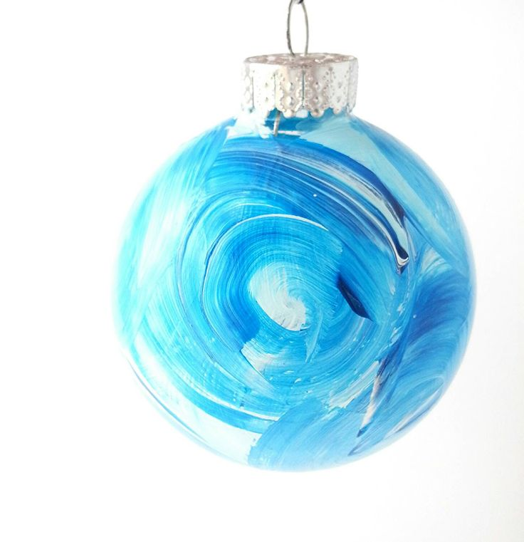 Hand Painted Christmas Ornament - Unique Christmas Gifts - Abstract Painting - Abstract Christmas Ornaments - Creative Holiday Gifts