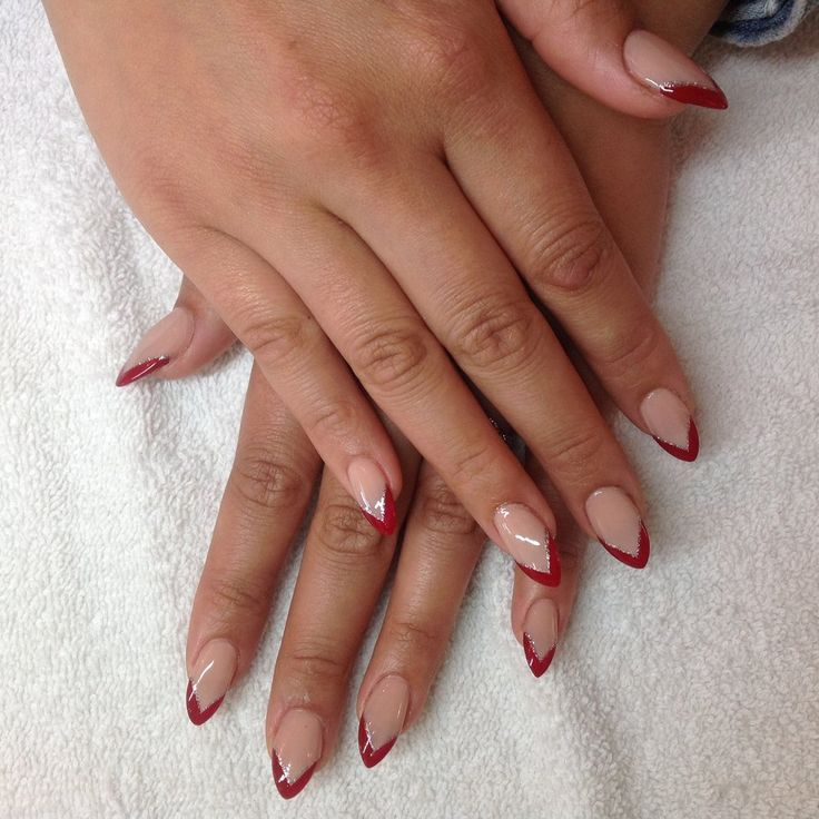 25 best Pointy french manicure images on Pinterest | Cute nails ...