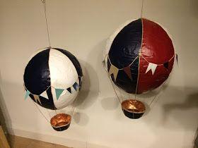 Det kreative hjørne..: Papmache - Luftballon - hot air ballon