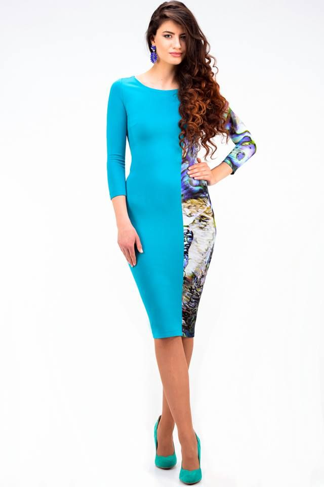 Seashell dress with asymmetric division - 66,50€