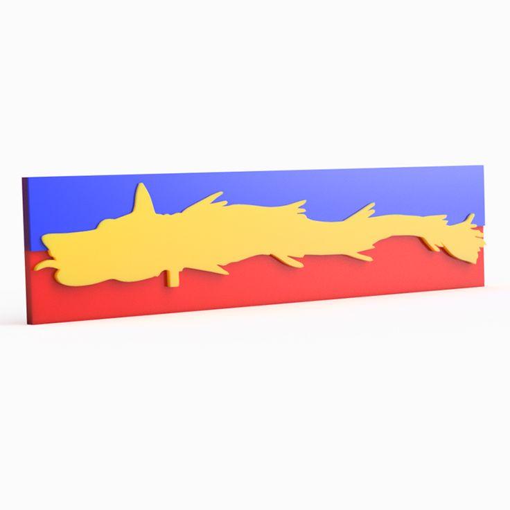 Magnet – Lupul Dacic Tricolor