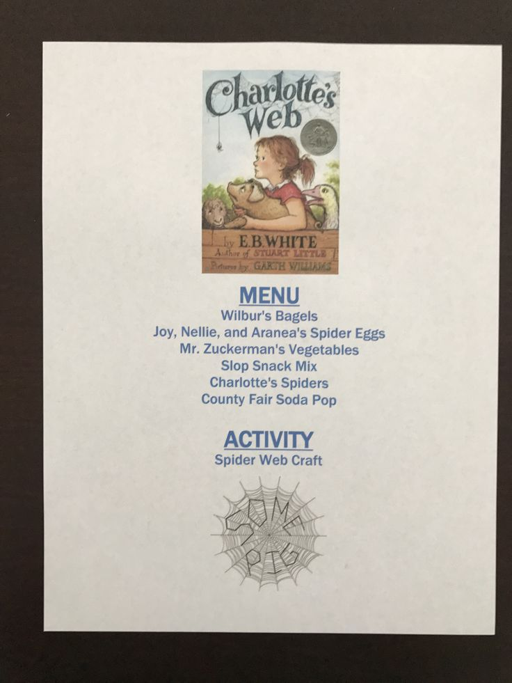 Charlotte's Web Movie Menu