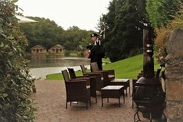 Our Condolences to a Tonteg family who said farewell to their loved one today. The service took place at GlynTaf Crematorium. Pictured Bagpiping in the grounds of Canada Lodge and Lake for the Wake for the many family & friends.  #SouthWales #Funeralmusic #Bagpipes #Cardiff #NewportWales #Newport #Bridgend #Chepstow #Bristol #Worcs #Gloucs #Pembs #Carms #Carmarthen #Brecon #Swansea #Hereford #Tonteg #Pontypridd #Gwent