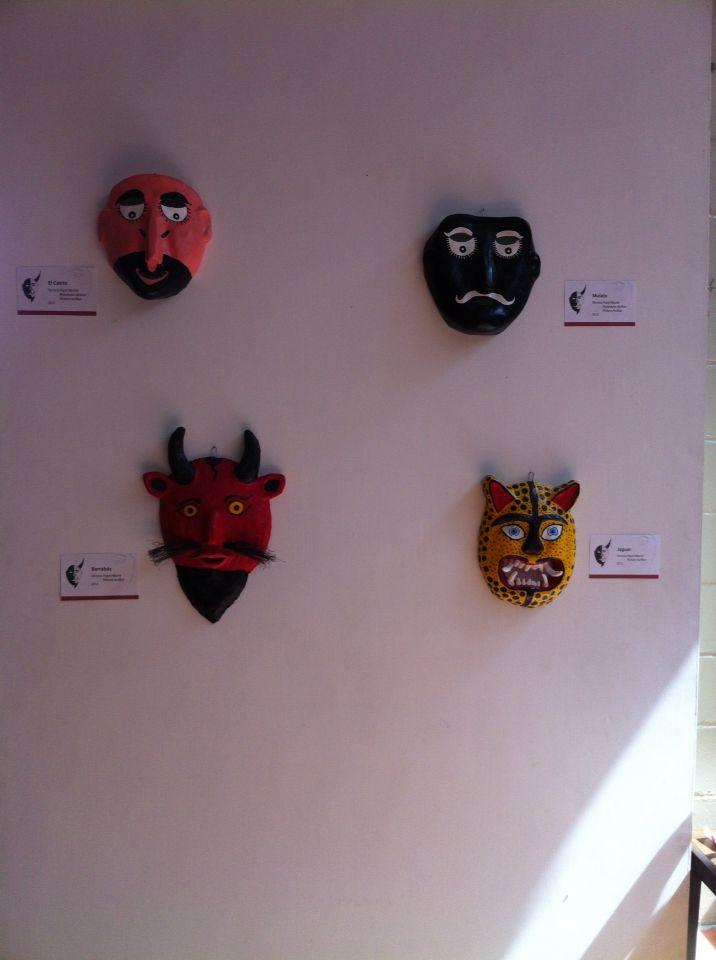 Máscaras de papel mache 1