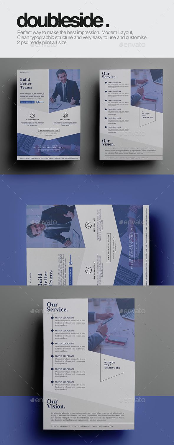 Doubleside Corporate Flyer Template PSD. Download here: http://graphicriver.net/item/doubleside-corporate-flyer/15303509?ref=ksioks