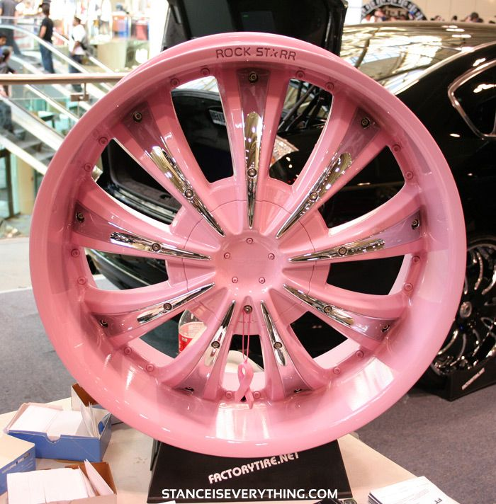 Pinks rims..... Men will cry when they see this! Lol