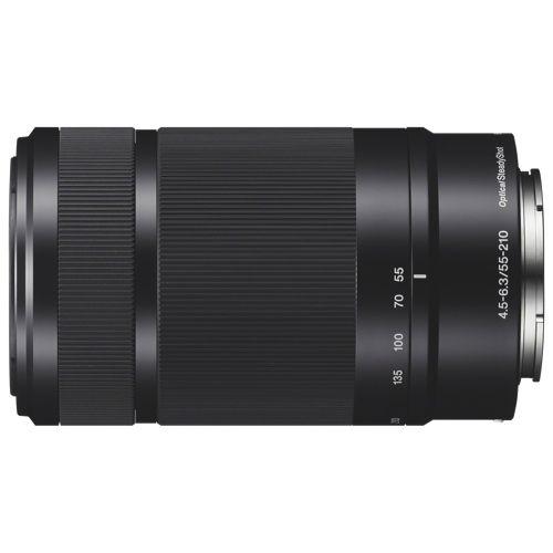 Téléobjectif zoom OSS à monture E 55-210mm f/4.5-6.3 de Sony