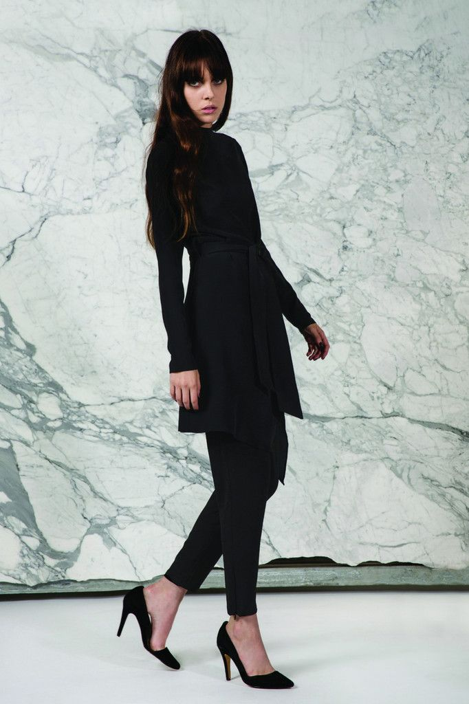 Keepsake Just Enough LS Tunic Top in Black Silk