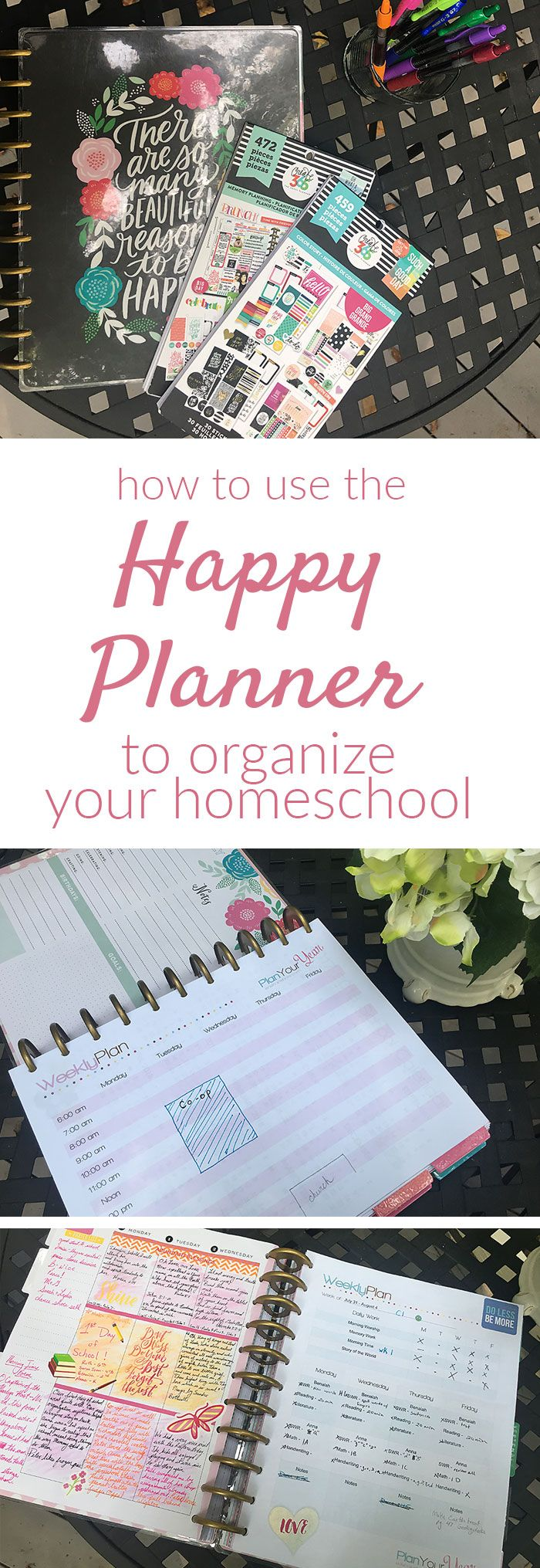 Need a flexible homeschool planner for your homeschool and your life? The Happy Planner can help you organize your homeschool and create a plan that will work for your unique family -- all in one place.