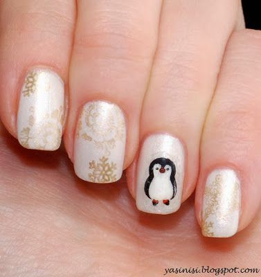 pinguin by Yasinisi from Nail Art Gallery