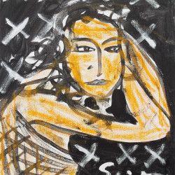 """Stefan Szczesny: Bild """"Eva in der Nacht"""" (2010) (Original / Unikat) - Hannover - Acrylmalerei › Kunstplaza, http://www.kunstplaza.de/online-galerie/"""