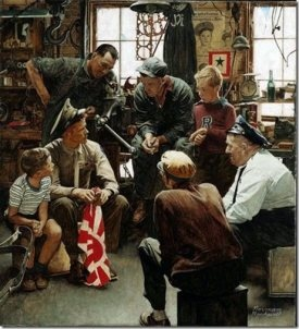 Norman Rockwell - A Marine's Homecoming
