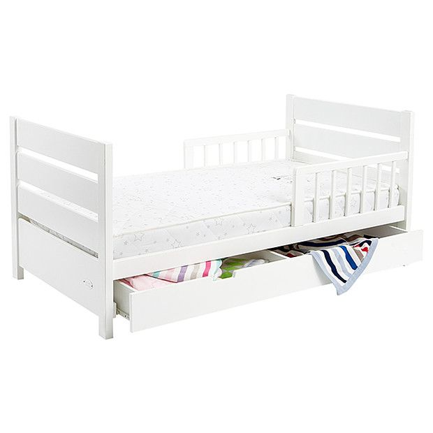 Mother's Choice Toddler Bed With Drawer - White