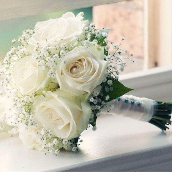 Купить нарциссы, свадебные букеты из белых роз для невесты