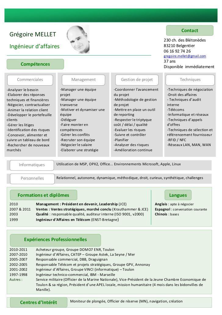 Exemple De Cv Ingenieur Telecoms Et Reseaux Cv Ingenieur Exemple Cv Ingenieur