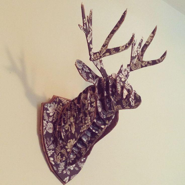 The 25 best diy decoupage deer head ideas on pinterest diy cardboard deer head pronofoot35fo Gallery
