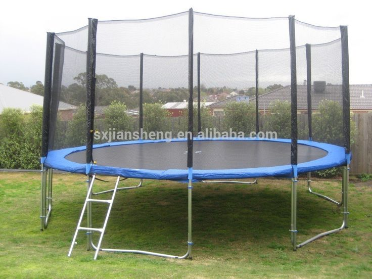 16ft big round cheap trampoline with safety net(outside)