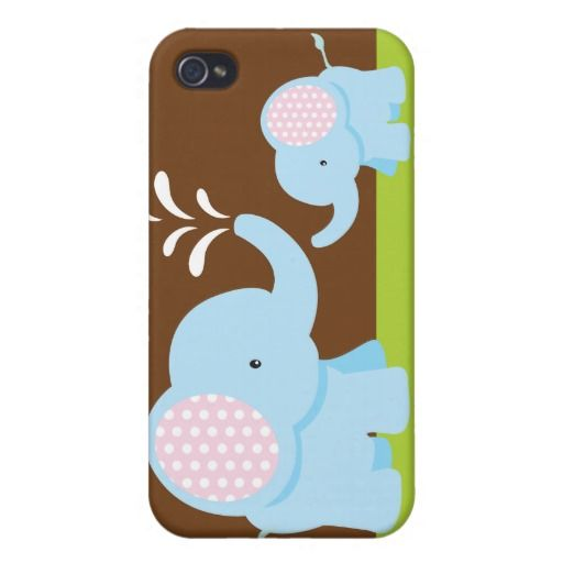 Elephants Cute Cartoon Elephant with Hat | Adorable cute cartoon elephants iPhone 4 case | Zazzle
