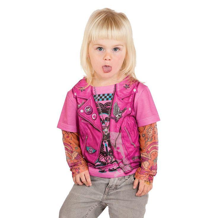 Girls' Toddler Biker Tee Costume - Pink, Toddler Girl's