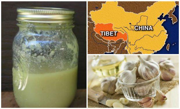 receta tibetana de ajo y alcohol