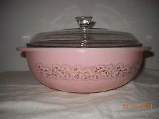 Pyrex Rare Pink Duchess Casserole and Lid