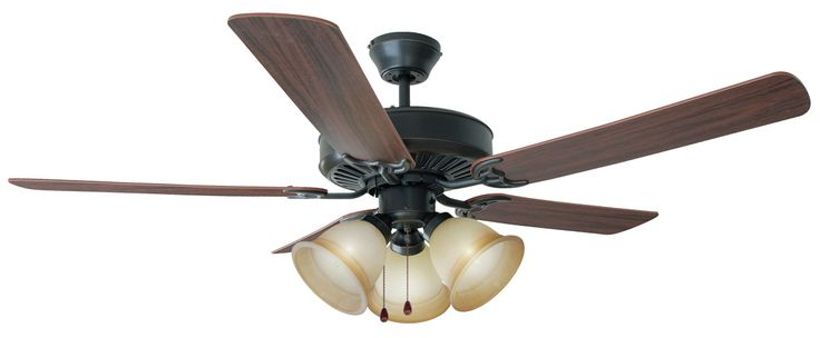 "Design House 153999 Cameron Oil Rubbed Bronze 52"" Ceiling Fan"