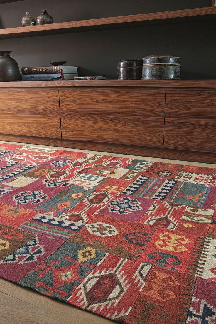 entico-enjoy/ 188.001.300/ wool-patchwork kelim/ comes in 3 design