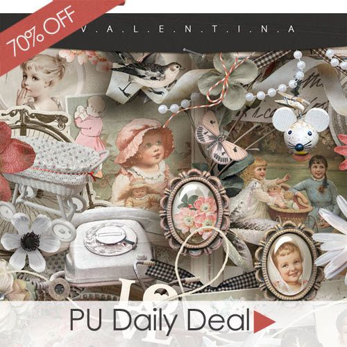 Today's Personal Use Deal of the Day is by Valentina's Creations. Pick up I am Still a Child Kit at 70% off. #digitalscrapbooking #scrapbooking #memorymaking #deals #promotions